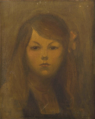 Theophile-Alexander Steinlen. Portrait of a young girl