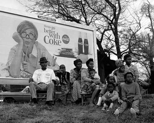 Historical photos. Coca-Cola Commercial on March Day for Black Americans' Voting Rights