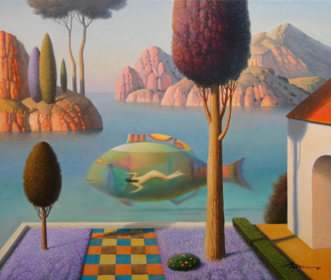 Evgeni (Eugene) Yakovlevich Gordiets (Gordian). Evening Swimming