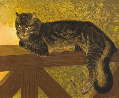 Theophile-Alexander Steinlen. Summer. Cat on the rails (II)