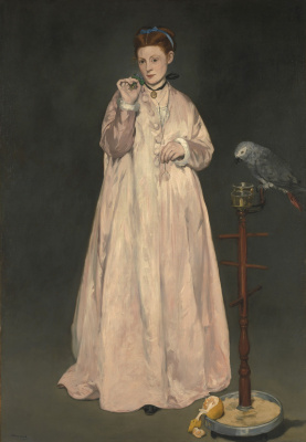 Edouard Manet. Woman with a parrot