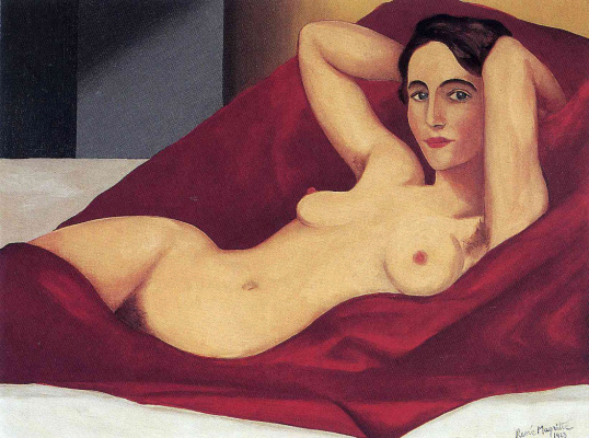 René Magritte. Reclining Nude