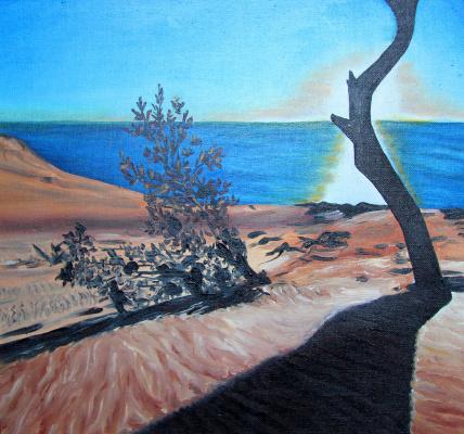 Lyudmila Nikolaevna Yevtushenko. The setting sun in the Sands