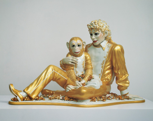 Jeff Koons. Michael Jackson and Bubbles
