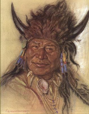 Николас де Гранмезон. Индейский портрет 50