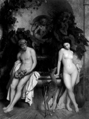 Jean-Leon Jerome. Daphnis and Chloe
