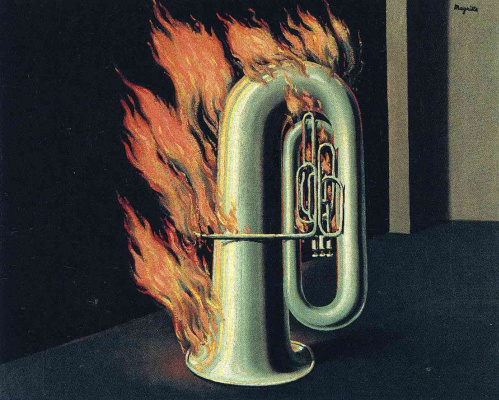 Rene Magritte. The discovery of fire