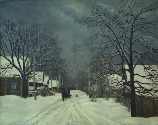 Marina Dmitrievna Razin. Winter in Ploskovo