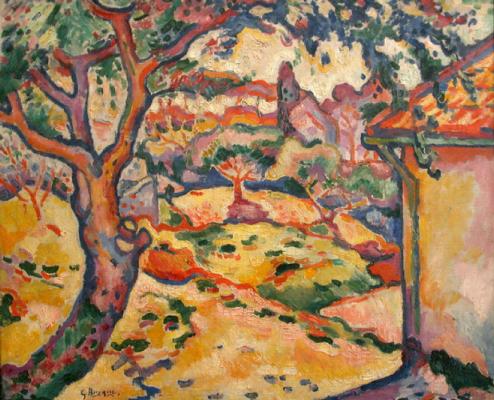 Жорж Брак. Оливковое дерево близ Эстака