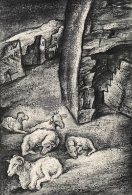 Leonid Valeryevich Stroganov. Ruins and sheep