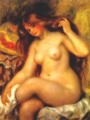 Пьер Огюст Ренуар. Купальщица со светлыми волосами