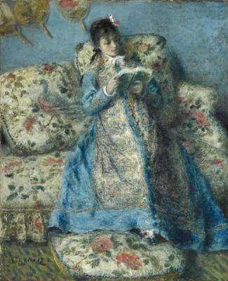 Pierre-Auguste Renoir. Madame Monet reading