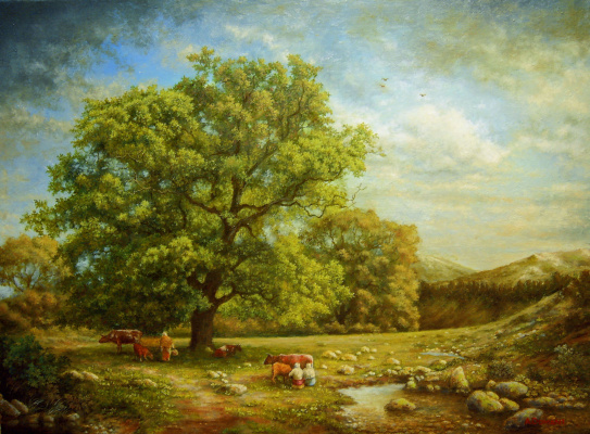 Andrey Domanin. Landscape with a brook