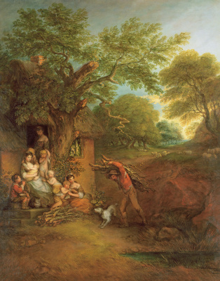 Thomas Gainsborough. Peasant family in front of the house