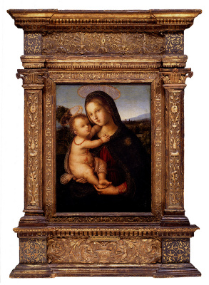 Pinturicchio. The Madonna and child before a landscape