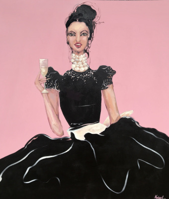 Natalia Shlyakhova. Girl with champagne