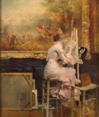 Паскаль Адольф Жан Даньян-Бувре. Художница-акварелистка в Лувре