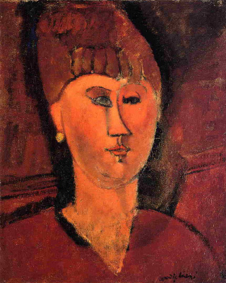 Portrait of a Russian woman with red hair