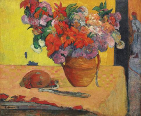 Paul Gauguin. Fleurs dans un vase