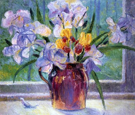 Bernhard Kutmann. The flowers on the window