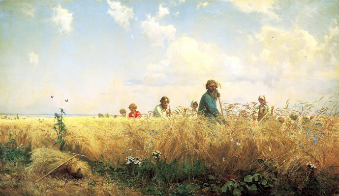 Grigory Grigorievich Myasoedov. It's time for the harvest and hay time