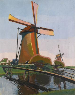 Auguste Erben. Windmill in Holland