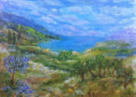 Rita Arkadievna Beckman. Mediterranean Sea on a sunny day