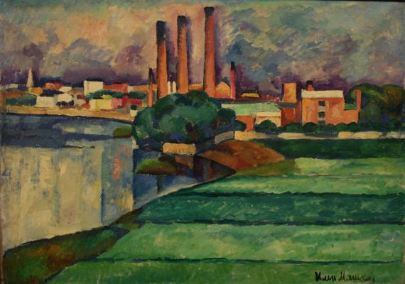 Ilya Ivanovich Mashkov. Landscape with a factory