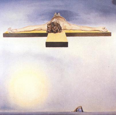 Salvador Dali. Christ Gala