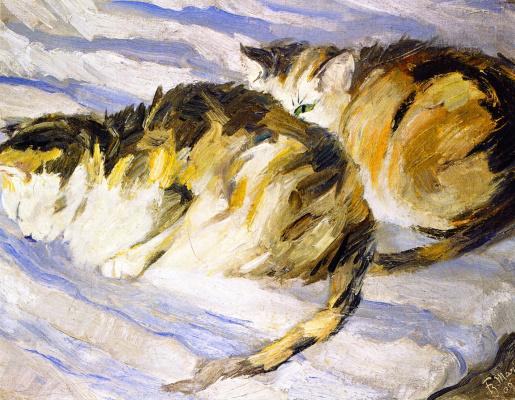 Франц Марк. Две кошки