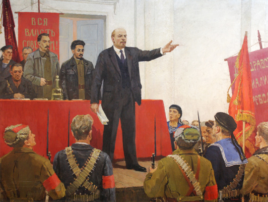 Georgiy Sergeevich Voloshin. Lenin proclaims Soviet power