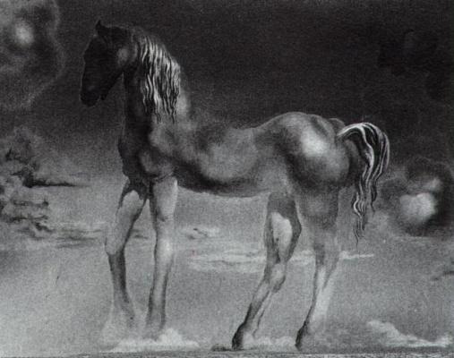 Salvador Dali. The unicorn (unfinished)