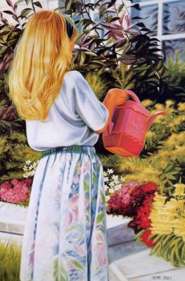 Мариз Пру. В саду