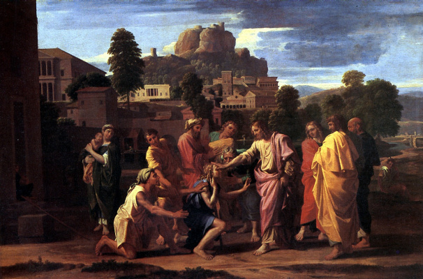 Nicola Poussin. Healing the blind