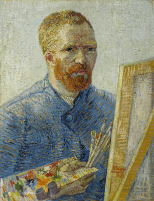 Винсент Ван Гог. Автопортрет перед мольбертом