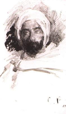 Сергей Арсеньевич Виноградов. Левитан в одежде бедуина