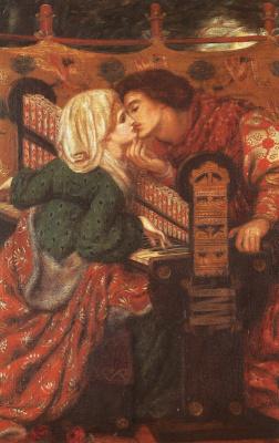 Данте Габриэль Россетти. Страстный поцелуй