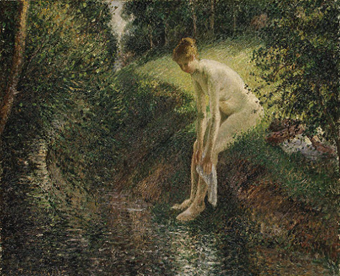 Camille Pissarro. Bather in the woods