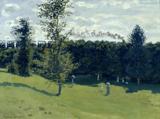 Claude Monet. Train in the countryside