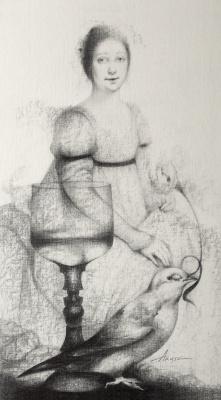 Ольга Акаси. Saint Agnes (To Martin Schongauer)