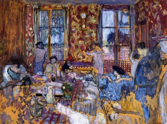 Jean Edouard Vuillard. Breakfast at Villerville