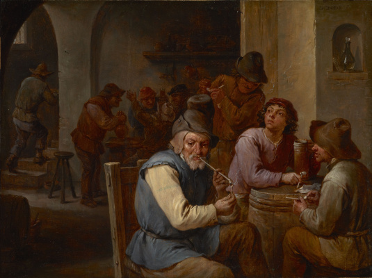 David Teniers the Younger. Smokers in the tavern