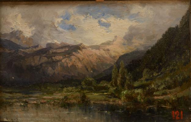 Alexey Petrovich Bogolyubov. Rhine Valley near Ragaz