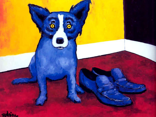 George Rodrigue. Blue собака009