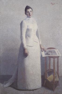 Ашиль  Ложе. Портрет мадам Астр