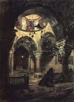 Vasily Dmitrievich Polenov. The Church Of St. Helena. The chapel of the Church of the Holy Sepulchre
