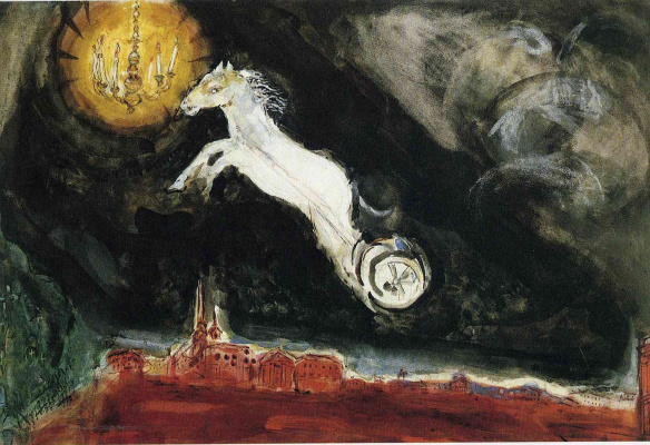 Marc Chagall. Scene design for the finale of the ballet Aleko