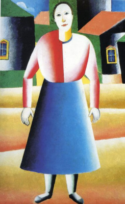 Kazimir Malevich. Girl in the village