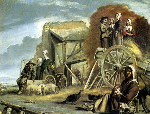 Louis Lenen. The return from haymaking