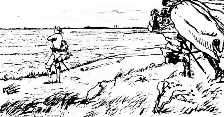 "Alexandre Benois. Illustration to ""the bronze horseman"" by Pushkin"